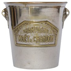 Petite Silver-Plate Ice / Champagne Bucket from France - Moet & Chandon