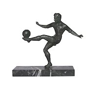 Soccer Statue - 1950s Soccer / Football Trophy from France