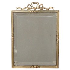 19th Century Brass Mirror from France - Bow Decor