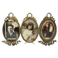 French Bronze Ormolu Frame Set for Three Photos