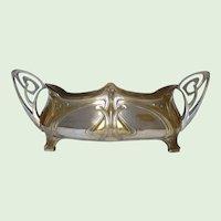 Impressive French Art  Nouveau Silver-plated Brass Jardiniere / Flower pot (1890s-1910s)