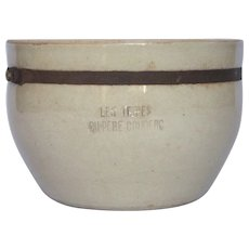 Vintage French Clay Storage Bowl - Confit Pot - Tripes Container