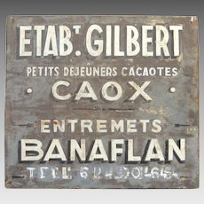 Authentic French Metal Shop Sign - Store Signage -Trade Sign