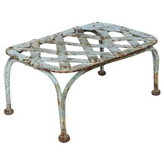 Antique Metal Latticed French Foot Stool / Garden Stand