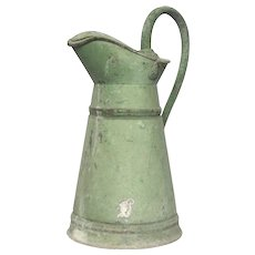 RARE 1800s French ZINC Lidded Pitcher