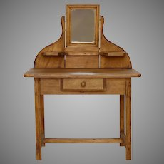 French Hand-Made Doll Vanity Table - Coiffeuse - Dressing Table