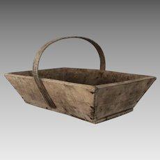 Vintage French Gardening Trug - Wooden Basket