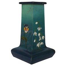 Unique Antique Hand-Painted Zinc Vase from Belgium - 1906