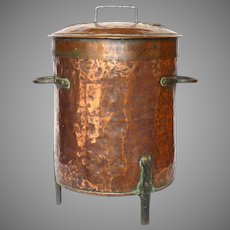 French Copper Pot - with Iron Feet - Hot Water Vat
