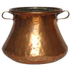 Antique French Copper Fire Place / Kitchen Bucket / Copper Pot