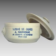 Earthenware French Crock for Pate - Terrine Made from Thrush Birds