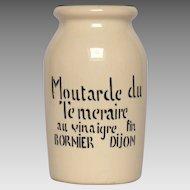 Vintage Dijon Mustard Jar - Ceramic Mustard Crock - Bornier