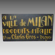 Vintage Folk Art Painted Trade Sign - French Shop Sign