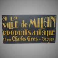Vintage Folk Art Painted Trade Sign - French Shop Sign
