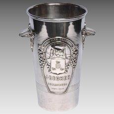 Earl 1900s Silver-Plate French Wine Bucket - Champagne Bucket