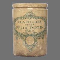 French FELIX POTIN Preserves Pot - Jam Crock - Jelly Jar - Stoneware
