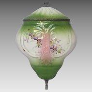 PRICE REDUCTION: Pink & Green Shaded Enamel Graniteware Lavabo Fountain