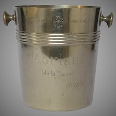 French Christofle Silver-Plate Ice Bucket - Morlant Champagne Advertising Bucket