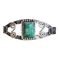 Old Pawn Harvey Era Native American turquoise bracelet whirling logs