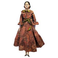 "Beautiful Rare Antique 24"" Papier Mache Milliner Doll"