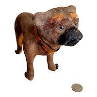 Paper Mache Bulldog? Pug Dog on Wheels