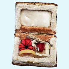 Miniature Doll Size Book with Sewing Tools