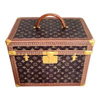 Miniature Doll Size Louis V. Trunk