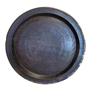 Huge Thick Treen Charger Woodenware