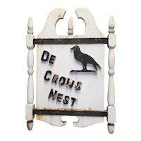 Antique Inn Sign Crow's Nest