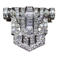 Art Deco Platinum Diamond Fur Clip