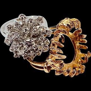 Diamond Ring with Detachable Frame ~ circa late 1970's