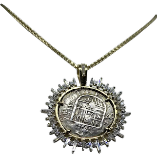 Vintage Roman Coin Necklace