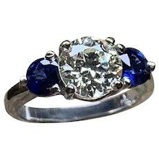 Diamond & Sapphire Ladies Ring