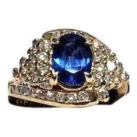 Diamond & Sapphire Ring 001