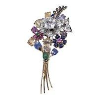 Gemstone bouquet Pin