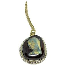 Mary in Opal Pendant ~  circa 1980's