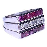 Retro Diamond & Ruby Ring