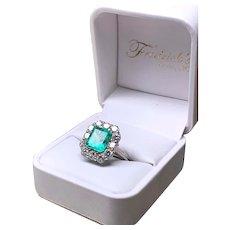 Summer Emerald & Diamond Ring