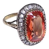 Antique Tangerine Sapphire Ring