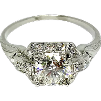 Vintage Diamond Wedding Ring ~ circa 1940's