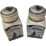 Vintage Delft Blauw Blue Handpainted Containers Holland