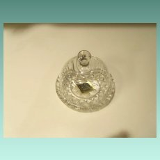 Vintage Mini Bleikristall 24% Lead Crystal Mini Butter Cheese Dome Dish W. Germany
