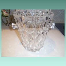 Mid Century Large Esquisite Crystal Ice Bucket Trifle Bowl or Egg Nog Bowl