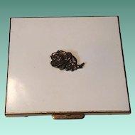 Mid Century 50's Schick Mgf. Co. Enameled Rosette Cigarette Case