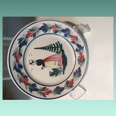 Antique Henriot Quimper Handpainted French Faience Salad Plate FRANCE