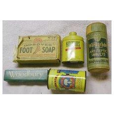 SALE: HBA Drugstore Items - groups- Soap-Powder-Dentals-Laxative - Vintage