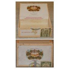 Cigar Box - H.Upmann - wood - 1912 Label - Havana - Vintage advertising!