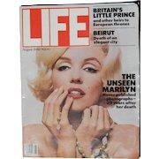 LIFE Magazine - Marilyn Monroe - Aug. 1982 - special photos