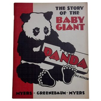Book: The Story of the Baby Panda - Su-Lin - Chicago - 1938