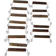 Bag Holders - 14 - 4 Chicago companies - early-mid 20thC - wood & wire